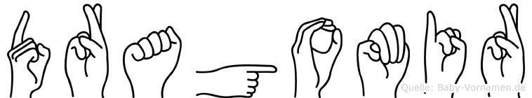 Dragomir im Fingeralphabet der Deutschen Gebärdensprache