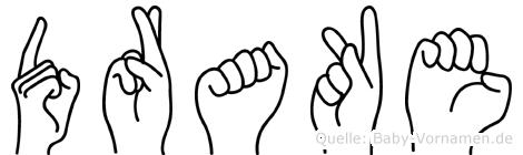 Drake in Fingersprache für Gehörlose