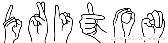 Driton im Fingeralphabet der Deutschen Gebärdensprache