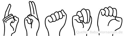 Duane in Fingersprache für Gehörlose