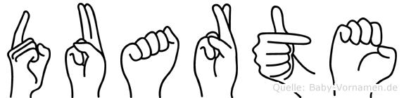 Duarte im Fingeralphabet der Deutschen Gebärdensprache