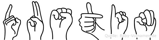 Dustin in Fingersprache für Gehörlose