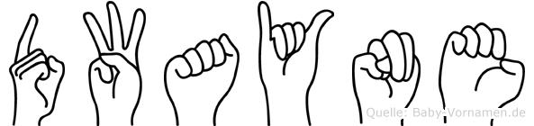Dwayne im Fingeralphabet der Deutschen Gebärdensprache