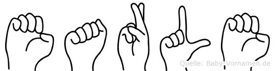 Earle in Fingersprache für Gehörlose