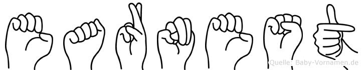 Earnest in Fingersprache für Gehörlose