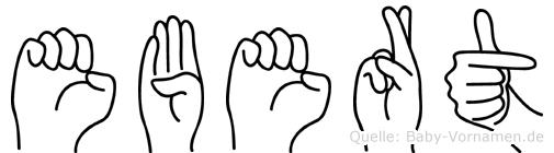 Ebert in Fingersprache für Gehörlose
