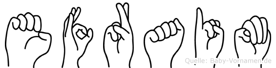 Efraim im Fingeralphabet der Deutschen Gebärdensprache