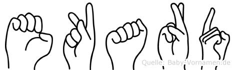 Ekard in Fingersprache für Gehörlose
