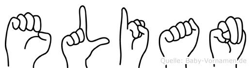Elian in Fingersprache für Gehörlose