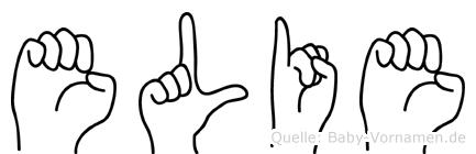 Elie im Fingeralphabet der Deutschen Gebärdensprache