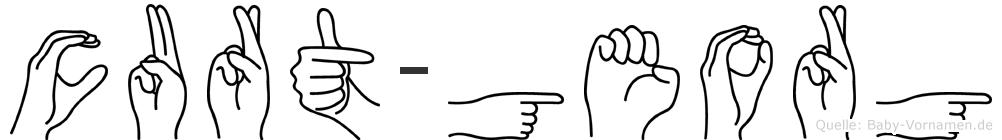 Curt-Georg im Fingeralphabet der Deutschen Gebärdensprache