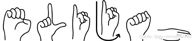 Elijah in Fingersprache für Gehörlose