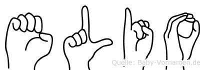 Elio im Fingeralphabet der Deutschen Gebärdensprache