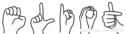 Eliot im Fingeralphabet der Deutschen Gebärdensprache
