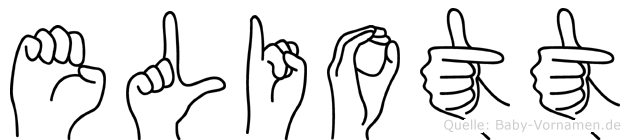 Eliott im Fingeralphabet der Deutschen Gebärdensprache