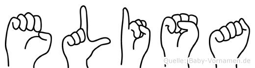 Elisa in Fingersprache für Gehörlose