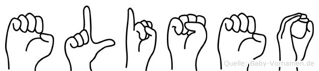 Eliseo im Fingeralphabet der Deutschen Gebärdensprache