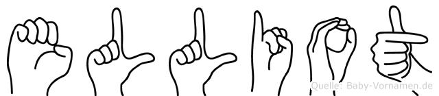 Elliot im Fingeralphabet der Deutschen Gebärdensprache