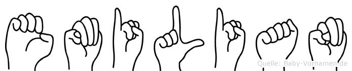 Emilian in Fingersprache für Gehörlose