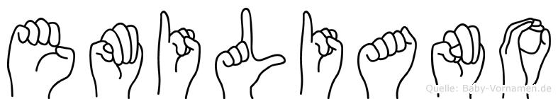 Emiliano im Fingeralphabet der Deutschen Gebärdensprache