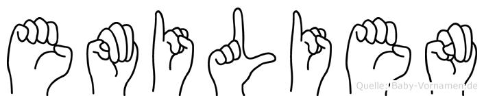 Emilien in Fingersprache für Gehörlose
