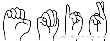 Emir im Fingeralphabet der Deutschen Gebärdensprache