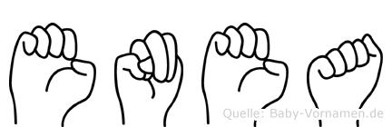 Enea in Fingersprache für Gehörlose
