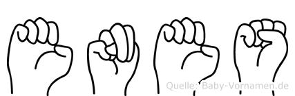 Enes in Fingersprache für Gehörlose