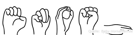 Enosh in Fingersprache für Gehörlose