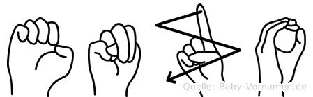 Enzo in Fingersprache für Gehörlose