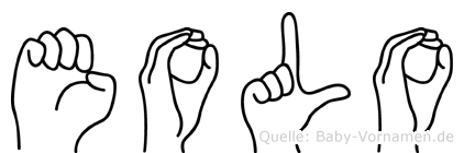 Eolo in Fingersprache für Gehörlose