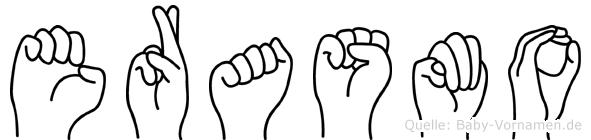 Erasmo in Fingersprache für Gehörlose