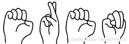 Eren im Fingeralphabet der Deutschen Gebärdensprache