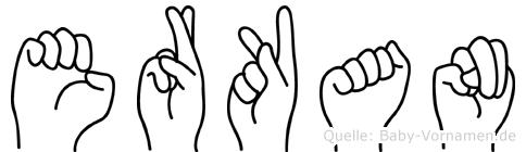 Erkan im Fingeralphabet der Deutschen Gebärdensprache