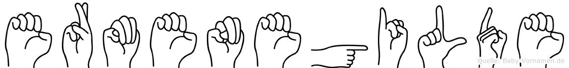 Ermenegilde im Fingeralphabet der Deutschen Gebärdensprache