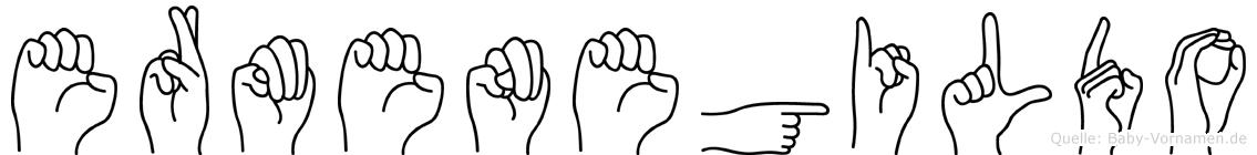 Ermenegildo im Fingeralphabet der Deutschen Gebärdensprache