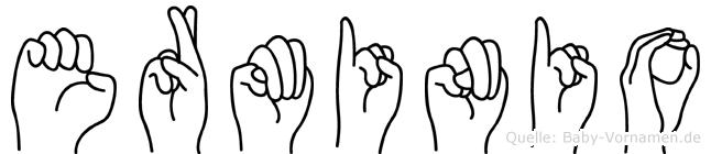 Erminio im Fingeralphabet der Deutschen Gebärdensprache
