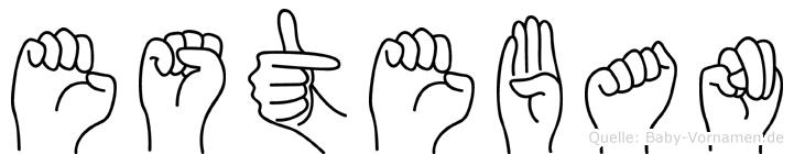 Esteban in Fingersprache für Gehörlose