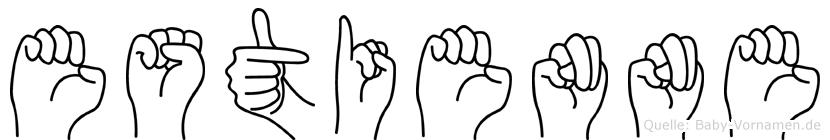Estienne im Fingeralphabet der Deutschen Gebärdensprache