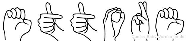 Ettore im Fingeralphabet der Deutschen Gebärdensprache