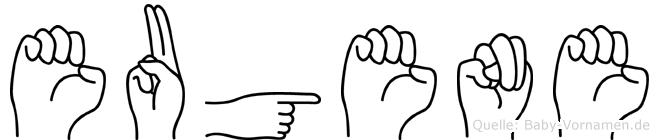 Eugene in Fingersprache für Gehörlose