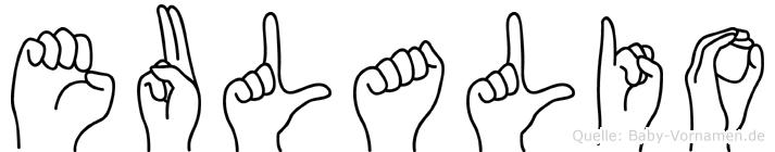Eulalio im Fingeralphabet der Deutschen Gebärdensprache