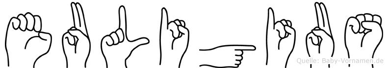 Euligius in Fingersprache für Gehörlose