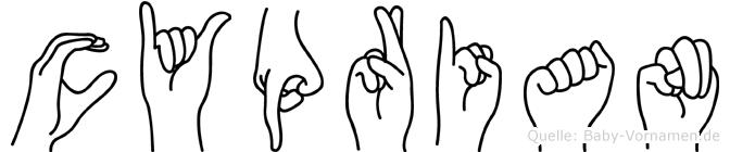 Cyprian in Fingersprache für Gehörlose