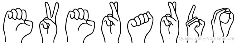 Everardo im Fingeralphabet der Deutschen Gebärdensprache