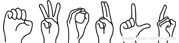 Ewould im Fingeralphabet der Deutschen Gebärdensprache