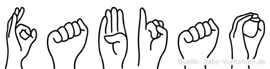 Fabiao in Fingersprache für Gehörlose