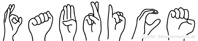 Fabrice im Fingeralphabet der Deutschen Gebärdensprache