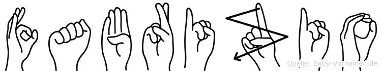 Fabrizio im Fingeralphabet der Deutschen Gebärdensprache