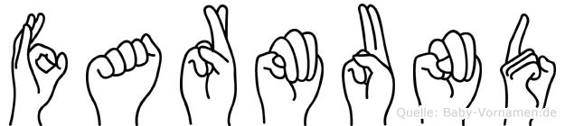 Farmund im Fingeralphabet der Deutschen Gebärdensprache